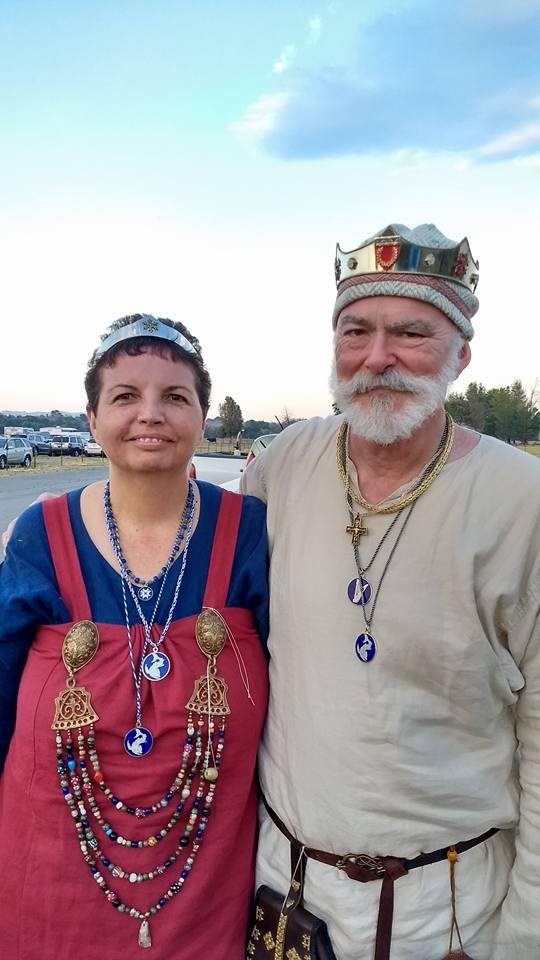Our Baron and Baroness, Einarr Grabaror and Sunnifa Jonsdottir