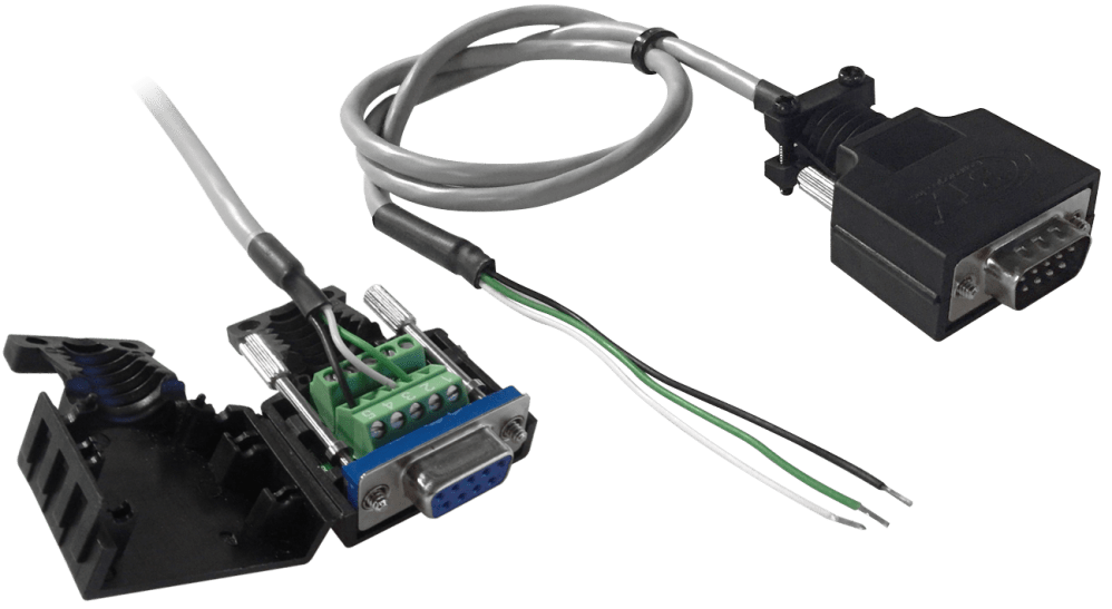 medium resolution of db9 to terminal blocks connectors can be used to make rs232 serial cables in the field the db9 terminal block connectors allow rs232 connectivity without