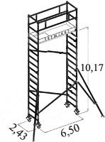 Scaffold USA 10 ft Folding Aluminum Scaffold Tower with