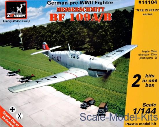 Messerschmitt Bf 109A/B, German pre-WWII fighter