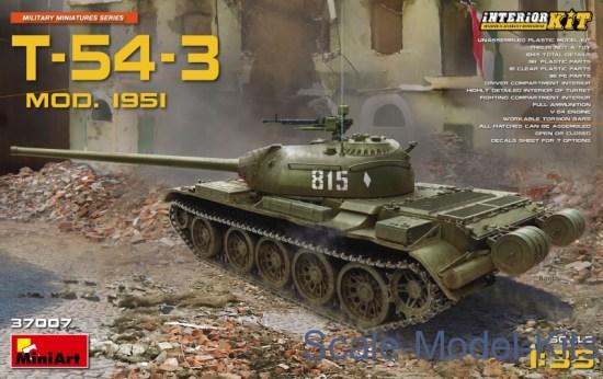 T-54-3 Soviet medium tank (interior kit), mod 1951