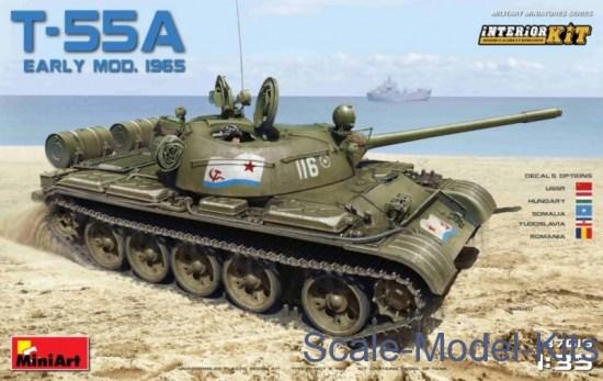 Russian Medium Tank T-55A mod. 1965, early. Interior Kit
