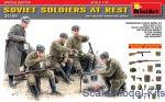 SOVIET SOLDIERS ON REST