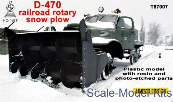 Railroad rotary snow plow D-470