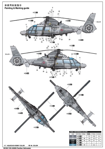 Scalehobbyist.com: AS565 Panther Helicopter by Trumpeter