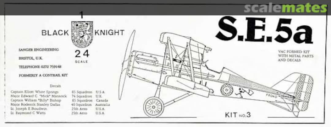 S.E.5a, Sanger Black Knight No.3 (19xx)