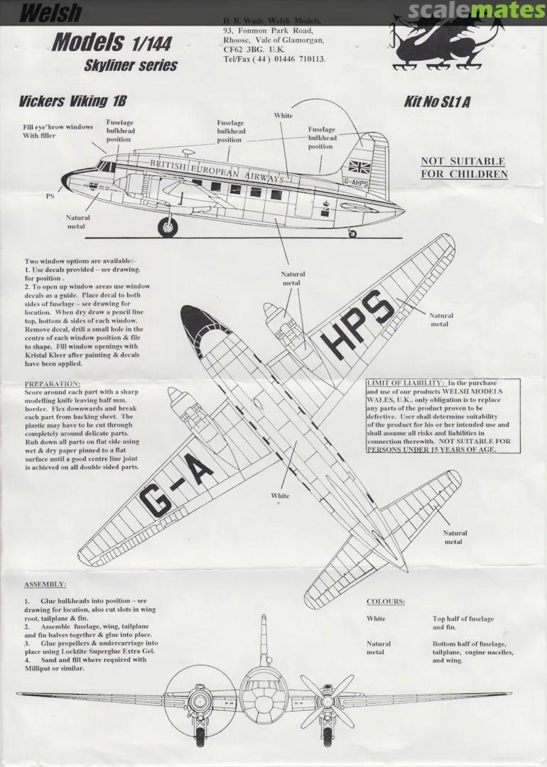 Vickers Viking 1B, Welsh Models SL1A