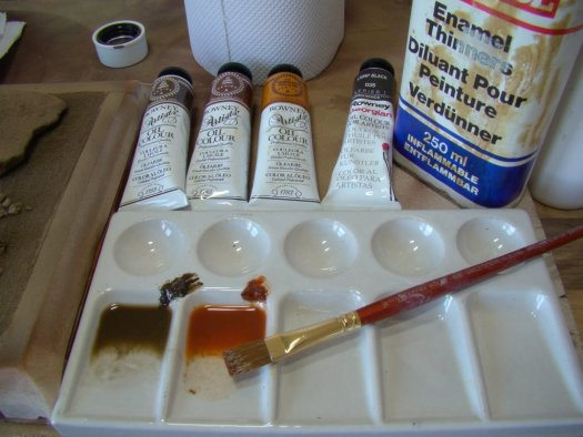 Only A Tiny Amount Of Oil Paint Is Mixed With Lot Thinner To Make Wash Typically 5 95