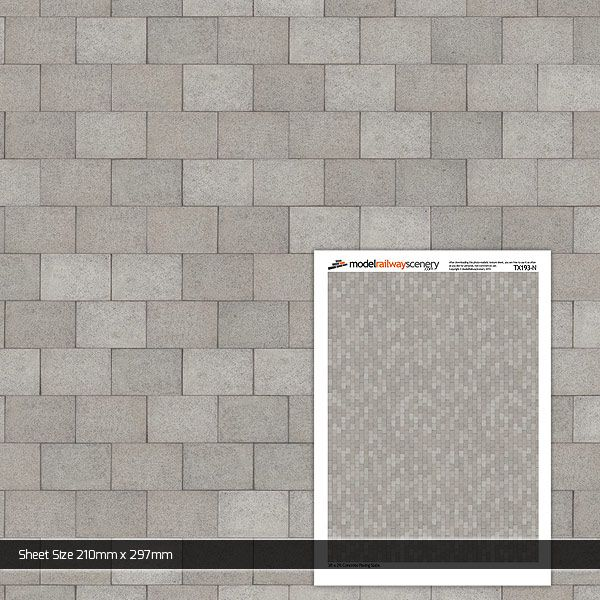 TX193-N 3ft x 2ft Concrete Paving Slabs Pristine Pack of 5
