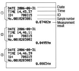 SHIMADZU EP-90 COMPACT PRINTER FOR ELECTRONIC BALANCES