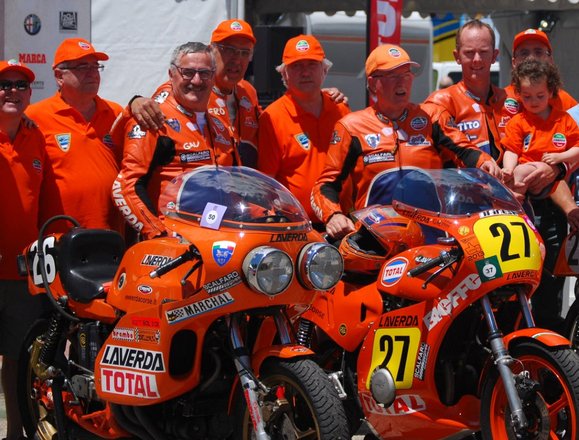 SCALFARO SPONSORS THE LAVERDA CORSE RACING TEAM