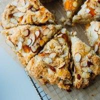 Persimmon almond scones {dairy-free + vegan}