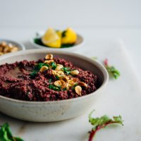 Beet Top Hazelnut Pesto