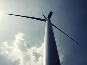 Wind Turbine, Sky, Sun, Light