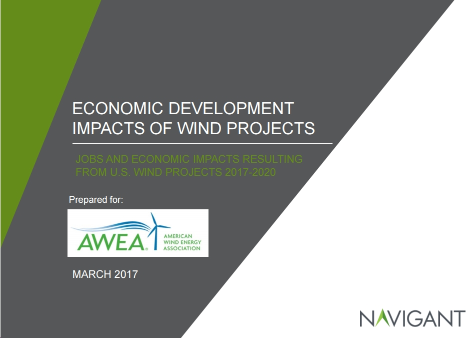 New AWEA/Navigant Study on U.S. Wind Power's Jobs and Economic Benefits: Highlights