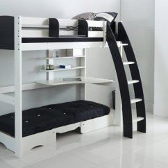 Chair That Opens Into A Bed Desk Mat For Carpet High Sleeper With Integral Shelves