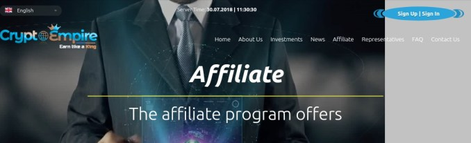 Cryptoempire.ltd - Affiliate Program