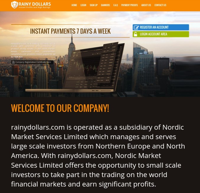 Rainydollars.com - Scam Review