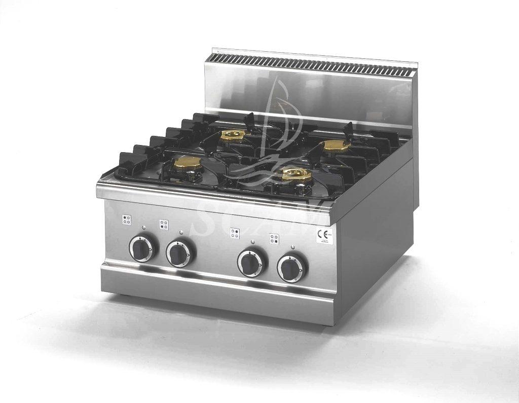 Cucine friggitrici e griglie in acciaio per cottura