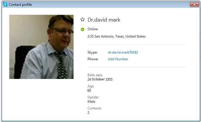 dating scammer david mark