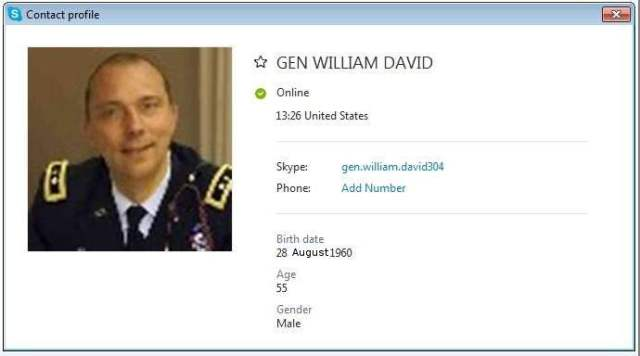 Gen William David SCR