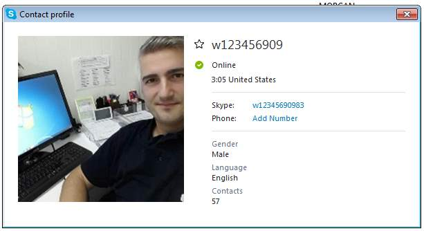SCAMMERS on SKYPE: w12345690983 /w123456909Frank Morgan (Nigeria)