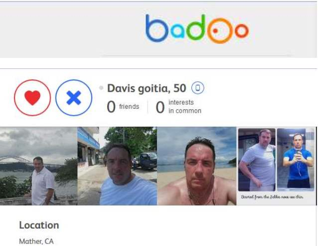 SCAMPOLICE GROUP. SCAMMER MESSAGES DATABASE:  Romance Scam: Davis Goitia