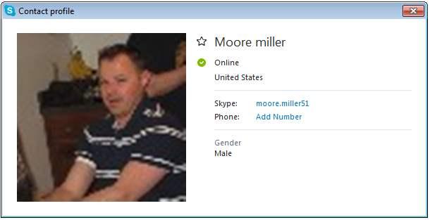 SCAMMERS on SKYPE: moore.miller51 (Moore Miller)