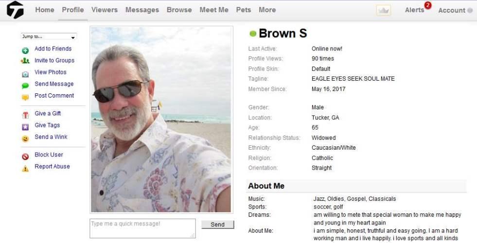 Romance Scam: Brown Scotte