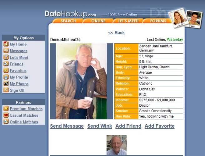 419 Scam/Romance Scam: MICHAEL EGGERS (Dr. Micheal)