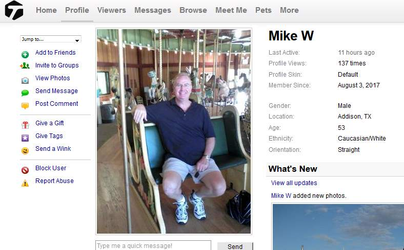 419 Scam/Romance Scam: MIKE WALTER