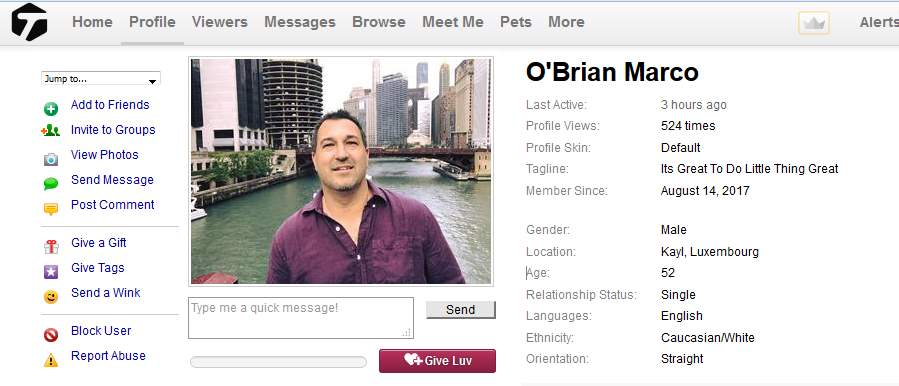 Romance Scam/Loan Scam: ELVIS CADIOT / O'BRIAN MARCO (South Africa)