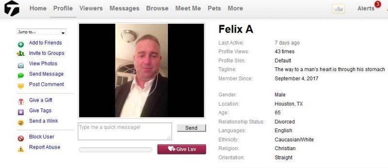 Congrats-your-busted-41: 419 Scam/Romance Scam: FELIX ADAMS