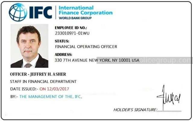 Fake ID used by Jeffrey Asher