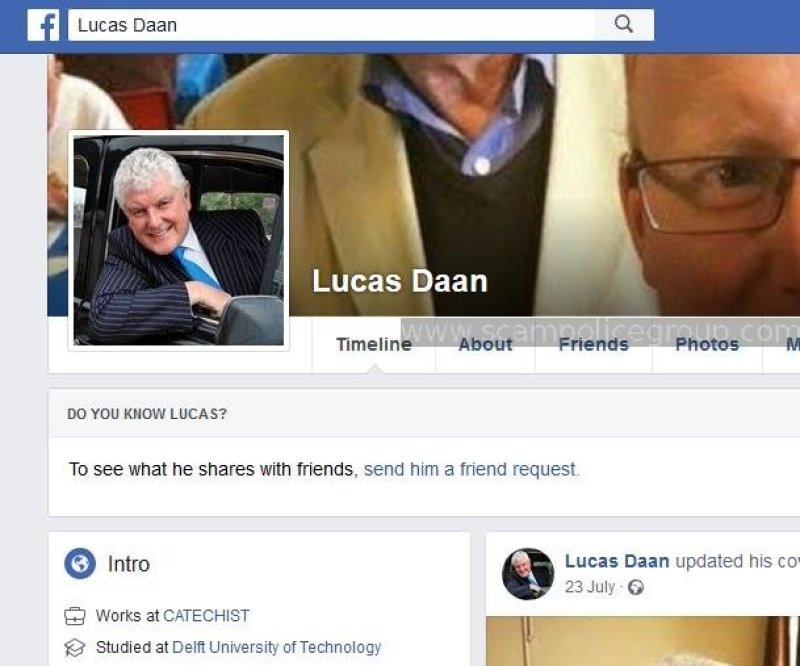 LUCAS DAAN FAKE PROFILE