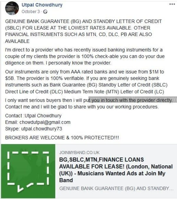 SPAM: Advance Fee Fraud/Bitcoin Scam/Loan Scam: HARRY MIKE LAGON