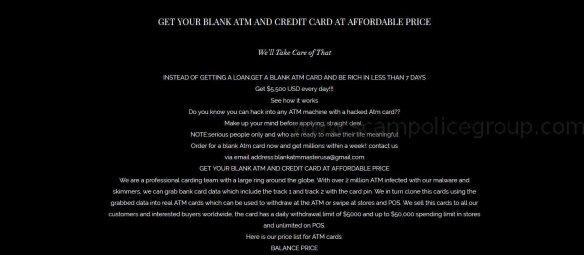 SPAM: Advance Fee Fraud/Phishing: BLANK ATM MASTER USA