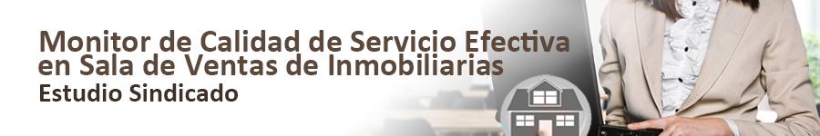 SCAN Monitor de calidad de servicio efectiva en sala de ventas de inmobiliarias