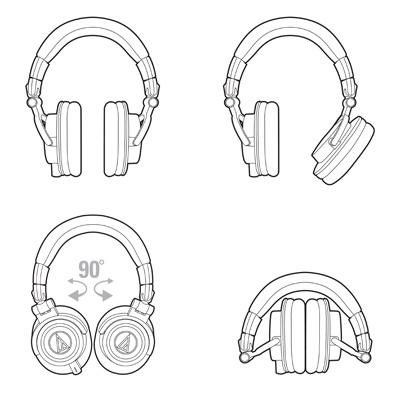Audio-Technica ATH-M50X Pro Studio Monitor Headphones