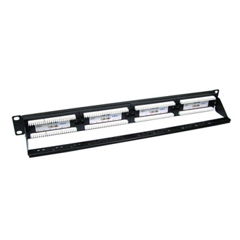 Scan 24 Port 1u Cat 6 Patch Panel Supports T568 A&B wiring