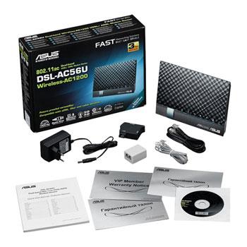 ASUS VDSLADSL DSLAC56U Phone Line WiFi Modem Router