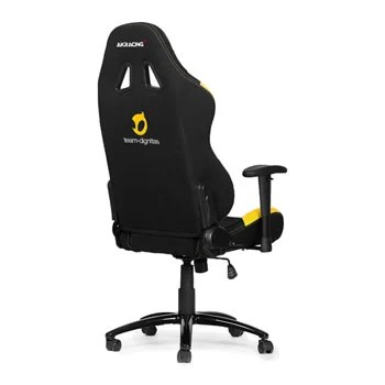 pro gaming chairs uk art van akracing team dignitas edition chair in black yellow fabric image 4