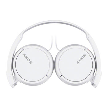 Sony MDR-ZX110 White Music Headphones with Inline Mic