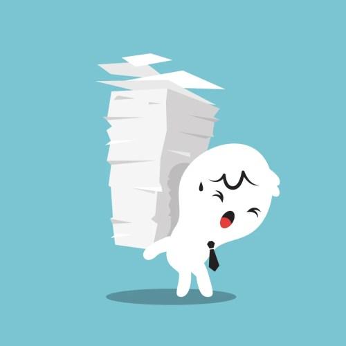 man-paper-load