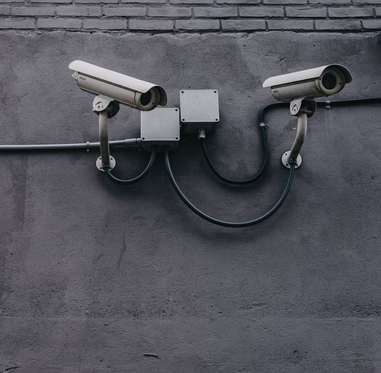 security cameras on a building