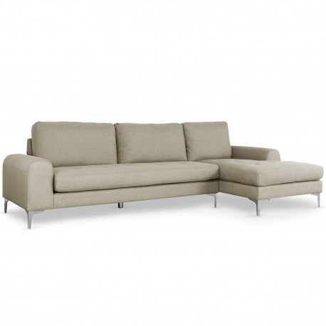 canape d angle scandinave tissu beige