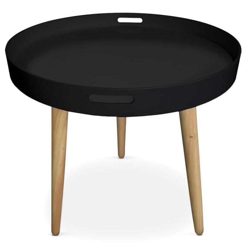 table d appoint ronde scandinave noir