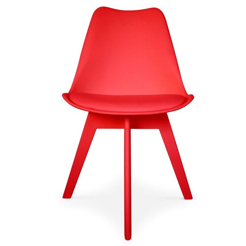 chaises scandinave colors rouge lot