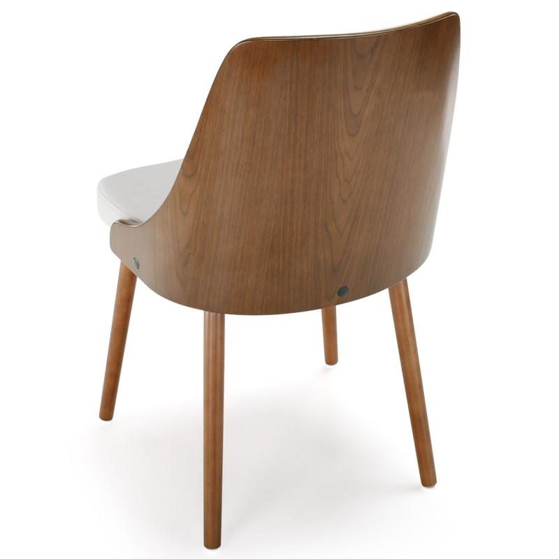 chaises scandinaves effet cuir bois