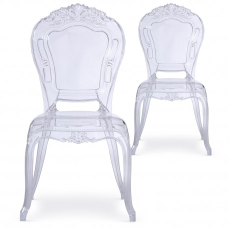 chaises royales transparent